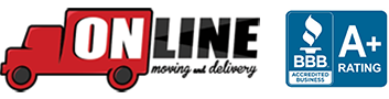 Online Moving and Delivery Logo
